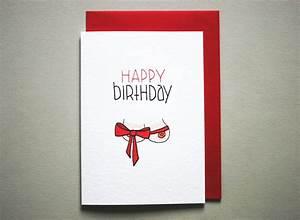 Funny happy birthday card boyfriend naughty birthday card