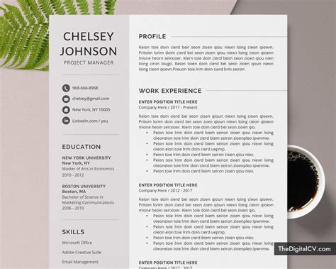 Study help for care leavers. Professional Resume Template / CV Template for Job ...