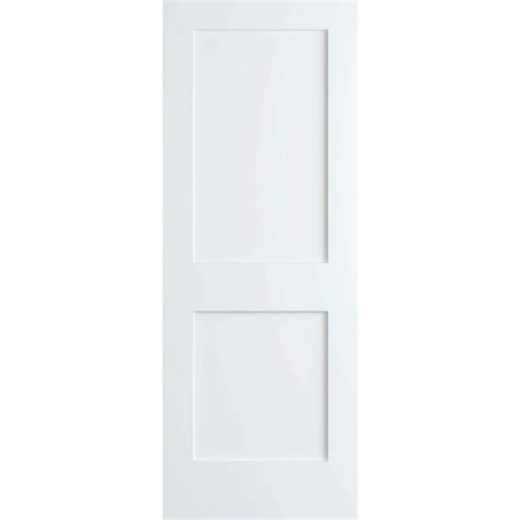 home depot 2 panel interior doors bay 28 in x 80 in white 2 panel shaker solid
