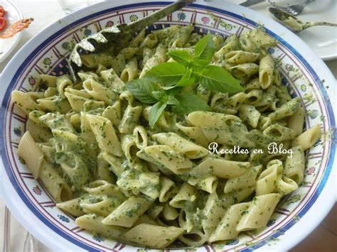 pates aux basilic frais pates au basilic et a la ricotta sauce froide recettes en