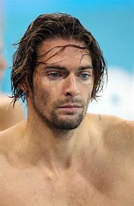 Camille Lacourt Photos Photos - Fabien Gilot at swimming practice at the Aquatics Center of the ...
