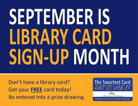 53 Best Library Card Signup Month Images On Pinterest