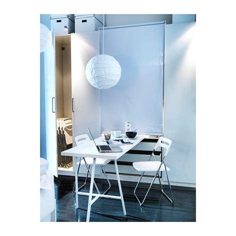 nisse folding chair high gloss white chrome plated ikea
