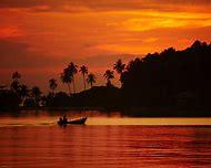 Tropical Beach Sunset Desktop