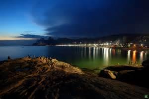 Ipanema Beach Rio De Janeiro at Night