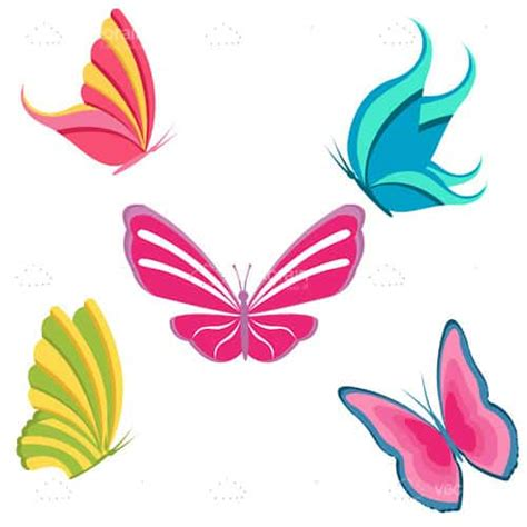 colorful icon pack colourful butterflies icon pack vectorjunky free