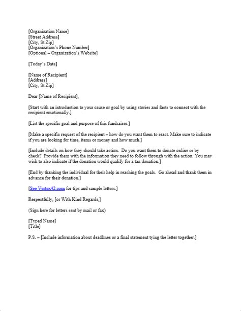 request  donation letter template sample