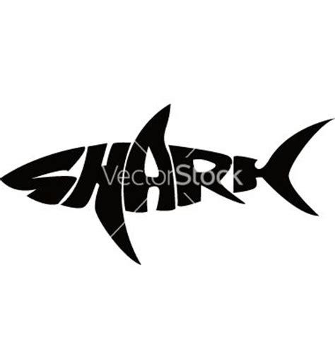 shark typography vector typography art illustrations