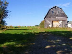 Field With Old Barn Free Stock Photo