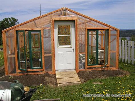 Building Greenhouse From Recycled Windows Shelving