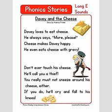 Reading Comprehension Worksheet  Davey And The Cheese