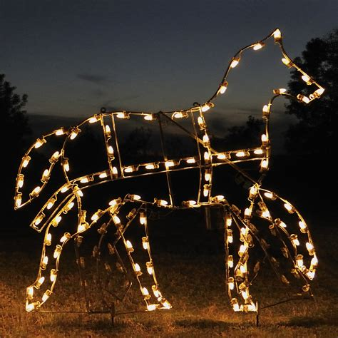 shop holiday lighting specialists 5 25 ft animated victorian horse outdoor christmas decoration