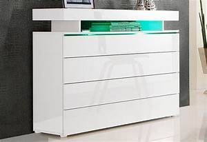 Kommode Hochglanz Weiß : kommode breite 110 cm online kaufen otto ~ Indierocktalk.com Haus und Dekorationen