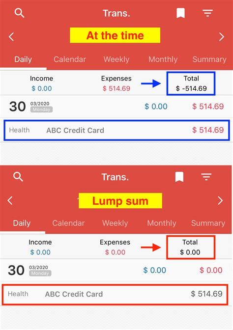 Check out our lump sum extra payment calculator to estimate your savings. How to display credit card usage amount - Money Manager ...