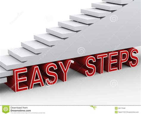3d Stairs Easy Steps Royalty Free Stock Photos Image