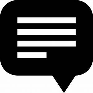 Black speech bubble with text lines Icons | Free Download