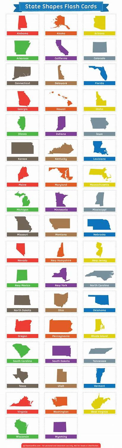 Flash Shapes Cards State Printable Flashcardfox Flashcards