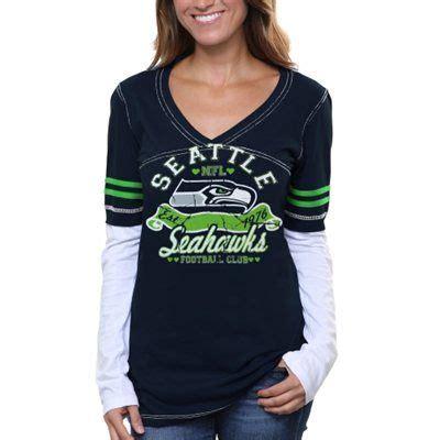 seattle seahawks womens baby jersey  neck long sleeve