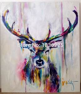 handmade items colorful abstract paintings animals oil ...