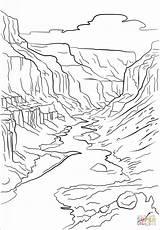 Canyon Grand Coloring Printable Crafts Mountains Nature Drawing Arizona Supercoloring Drawings Adult Road Animals Sheets Printables Trip Painting Cartoons Bible sketch template