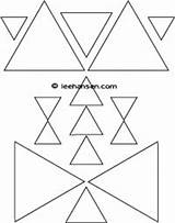 Coloring Triangle Shapes Triangles Pages sketch template