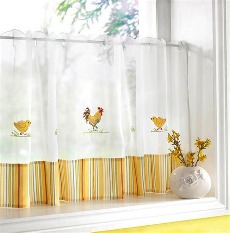Sheer Voile Curtains Uk by Chickens Cafe Curtain Width 60 Net Curtain 2 Curtains