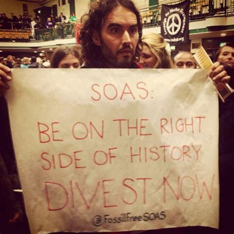 russell brand soas comedian russell brand lends support to fossil free soas