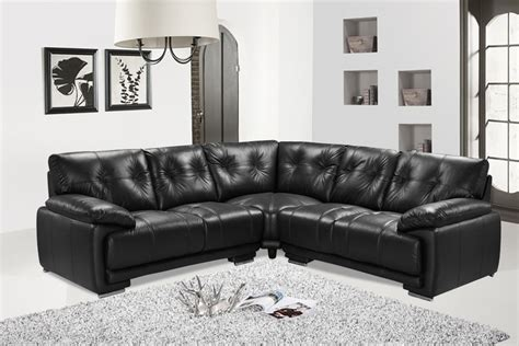 Cheap Leather Sofas by Pavillion Leather Corner Sofa Black High Quality Cheap