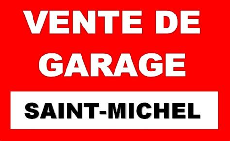 Vente De Garage  Municipalité Saint Michel