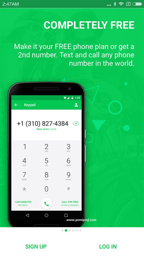 phone number app 5min less than following features