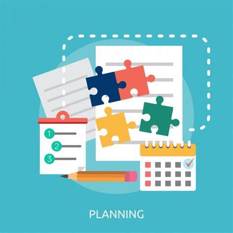 planning background design vector