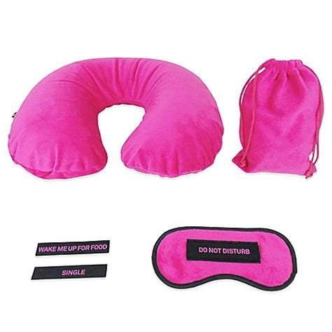 travel pillows eye masks travel buy travel sleep set with eye mask and neck pillow from bed bath beyond