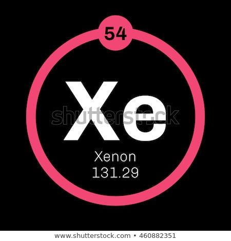 xenon element chemical vector periodic table