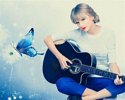 Swift Taylor Guitar Playing Wallpapers