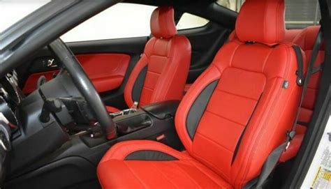 katzkin zkintech ford mustang gt  coupe leather seat