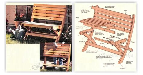 portable folding bench plans woodarchivist
