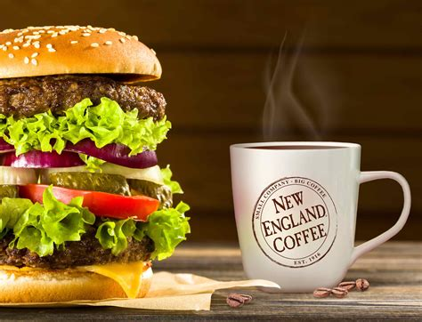 Drop us a dm to talk about your food. Burger-and-Coffee | New England Coffee