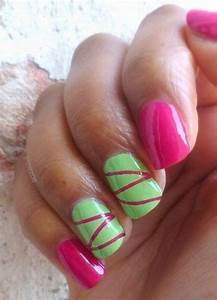 1000 ideas about Lime Green Nails on Pinterest