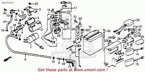 Honda Vf500c V30 Magna 1984 Usa Battery