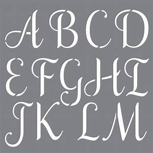 Decoart Personally Yours Sophisticated Alphabet Stencil