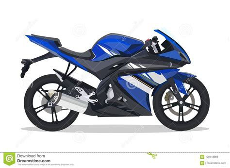 Motor Bike Stock Illustrations