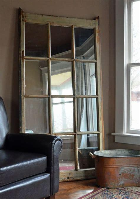 window pane decor large leaning mirror 8 pane window frame with vintage