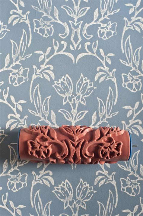 tapet patterned paint roller   painted house