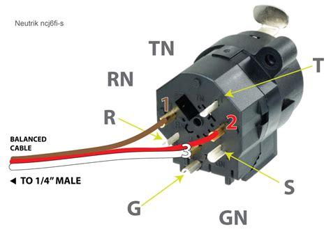 hardware wiring an xlr 1 4 quot combo wall box to a single cable neutrik ncj6fi s sound