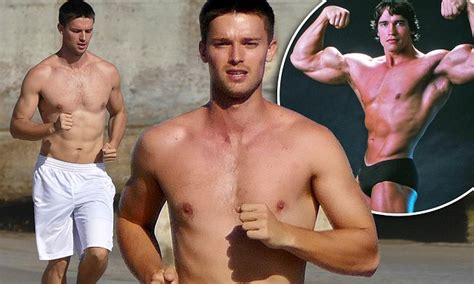 Patrick Schwarzenegger channels his father with no shirt ...
