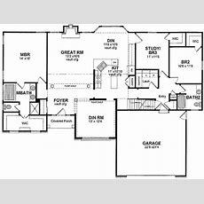 Onelevel Open Floor Plan  19592jf Architectural