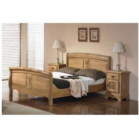 chambre a coucher chene massif lit ardeche chene massif 140x190 les meubles du chalet