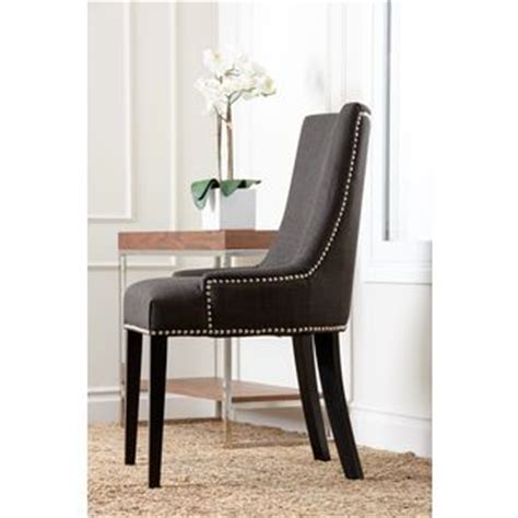 Grey Upholstered Dining Chairs With Nailheads by Abbyson Newport Grey Fabric Nailhead Trim Dining Chair By