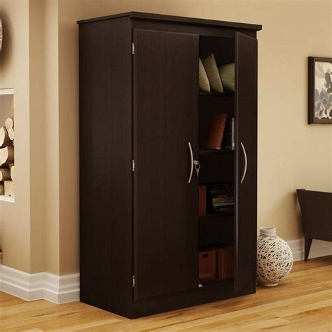 Black Wardrobe Cabinet by Black Storage Cabinet With 2 Doors Great For Bedroom