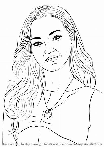 Step Dove Cameron Draw Coloring Drawing Pages